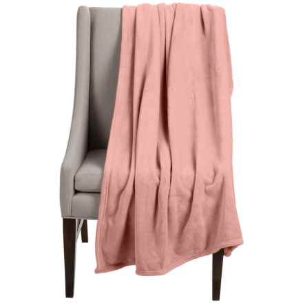 "Dream Home Super-Plush Oversized Throw Blanket - 50x70"" in Coral - Closeouts"