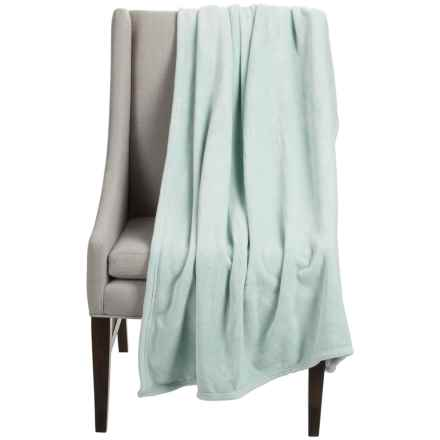 "Dream Home Super-Plush Oversized Throw Blanket - 50x70"" in Mineral - Closeouts"