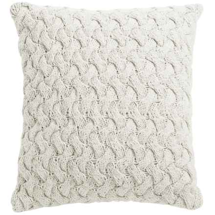 """Dream Home Swivel-Knit Throw Pillow - 20x20"""" in Ivory - Closeouts"""