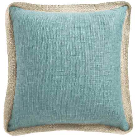"Dream Home Textured Chenille Pillow - 20x20"" in Mineral - Closeouts"