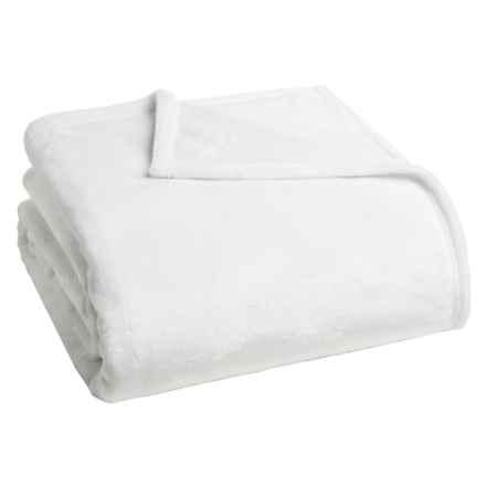 Dream Home Ultra Plush Velvet Blanket - Full-Queen in White - Closeouts