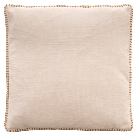 """Dream Home Whipstitch Chenille Pillow - 20x20"""" in Ivory"""