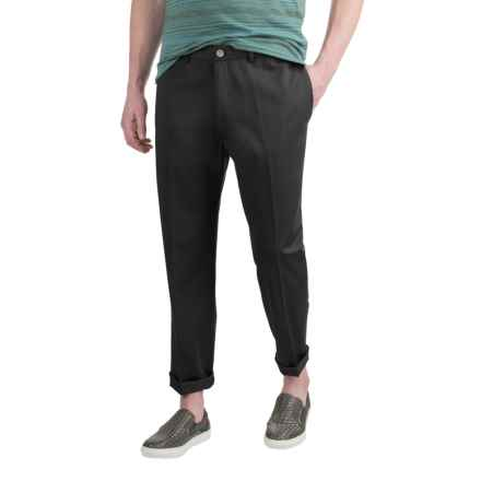 Dress Khaki Pants - Flat Front, Cotton Twill (For Men) in Black - 2nds
