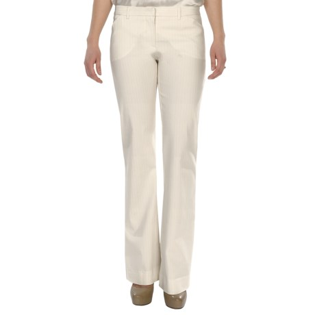 Dressy Mini Boot Pants (For Women) in Off White/Lurex