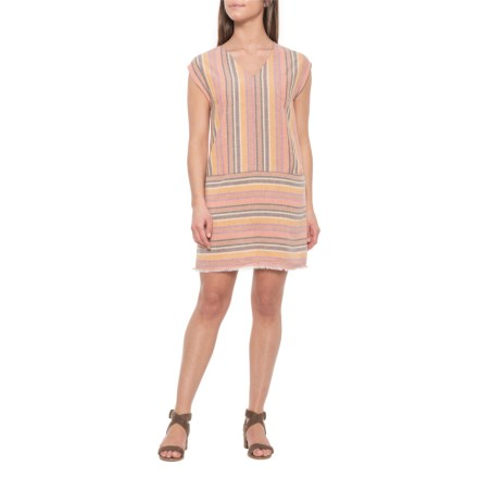b19d1b1aed8 Drew Agave Ainslie Linen Striped Shirtdress - Sleeveless (For Women) in  Agave - Closeouts