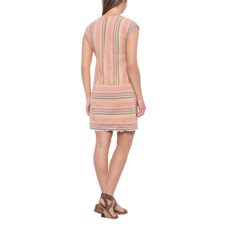 1ebe24e32b3 Drew Agave Ainslie Linen Striped Shirtdress - Sleeveless (For Women)
