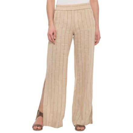 d8a5b19ab4 Drew Natural Burlap Sullivan Side Slit Linen Pants (For Women) in Natural  Burlap -