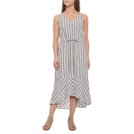 16140f2558 Drew Pearl Callie V-Belted Midi Linen Dress - Sleeveless (For Women) in