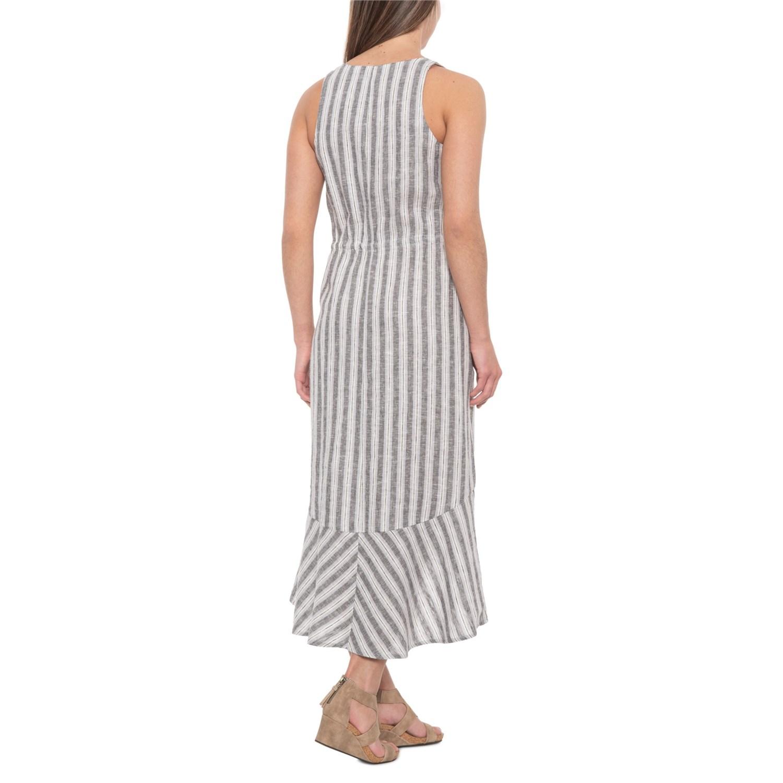 3a9c2bacf7 ... 641GK 2 Drew Pearl Callie V-Belted Midi Linen Dress - Sleeveless (For  Women)