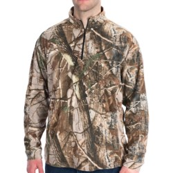 Dri Duck Camo Fleece Shirt - UPF 50, Zip Neck, Long Sleeve (For Men) in Realtree Ap