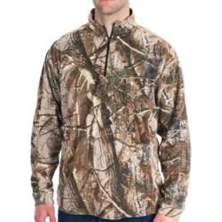 Dri Duck Camo Fleece Shirt - UPF 50, Zip Neck, Long Sleeve (For Men) in Realtree Ap