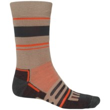 Dri-Stride Midweight Socks - Crew (For Men) in Earth Stripe - 2nds
