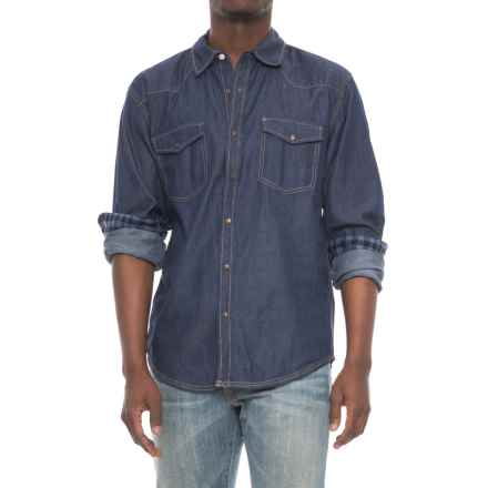 Drill Clothing Co. Western Denim Shirt - Snap Front, Long Sleeve (For Men) in Dark Blue - Overstock