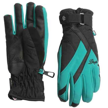 Drop Allure 2 Gore-Tex® Gloves - Waterproof, Insulated (For Women) in Lagoon/Black - Closeouts