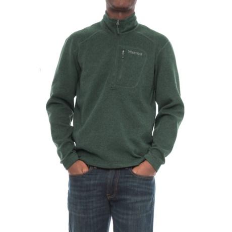 Drop Line Pullover Jacket - Zip Neck (For Men)