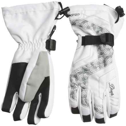 Drop Opener Gauntlet Gloves - Waterproof, Insulated (For Women) in White - Closeouts