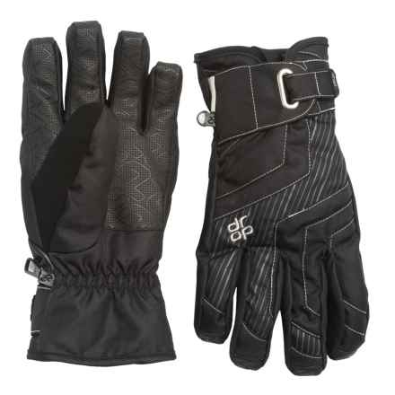Drop Opener Short Gloves - Waterproof, Insulated, Touchscreen Compatible (For Men) in Black - Closeouts