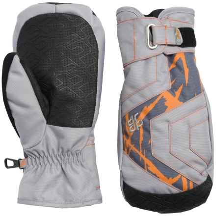 Drop Opener Short Mittens - Waterproof, Insulated (For Men) in Clay Grey/Orange - Closeouts