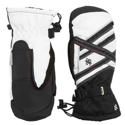 Drop Sector III Gauntlet Mittens - Waterproof, Insulated (For Men) in Black/White - Closeouts