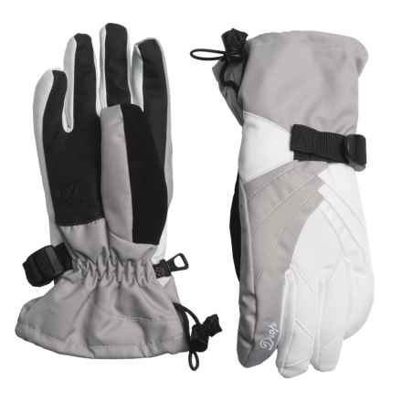 Drop Tiffany III Gloves - Waterproof, Insulated (For Women) in White/Clay Grey - Closeouts