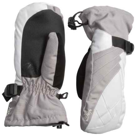 Drop Tiffany III Mittens - Waterproof, Insulated (For Women) in White/Clay Grey - Closeouts