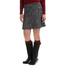 Drop-Waist Space-Dye Knit Skirt (For Women) in Grey Combo - 2nds