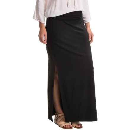 Drop-Waist TENCEL® Maxi Skirt (For Women) in Black - 2nds