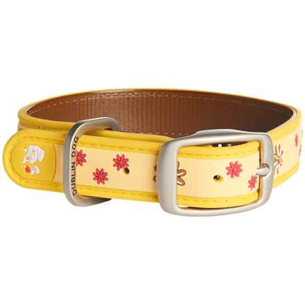 Dublin Dog Flower No-Stink Dog Collar - Waterproof in Yellow - Closeouts
