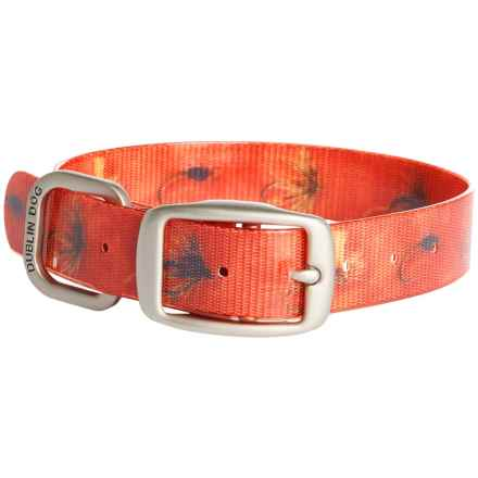Dublin Dog No-Stink Fish Fly Dog Collar - Waterproof in Red - Closeouts