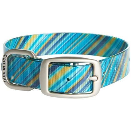 Dublin Dog No-Stink Oxford Dog Collar - Waterproof in Blue