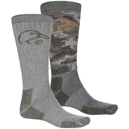 Ducks Unlimited 2/178 Boot Socks - Crew, 2-Pack (For Men) in Camo - Closeouts