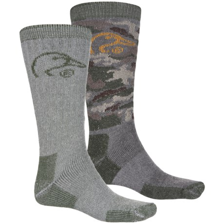 Ducks Unlimited 2/178 Boot Socks - Crew, 2-Pack (For Men) in Camo