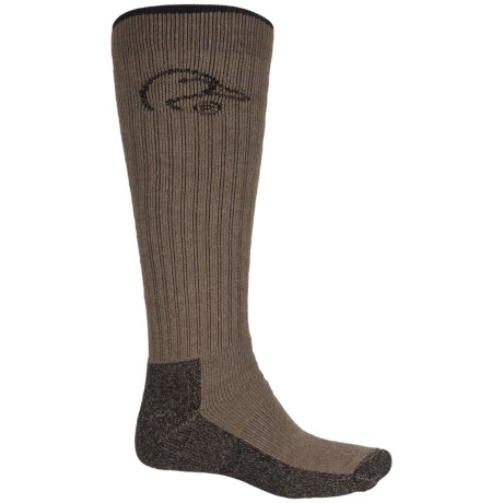 Ducks Unlimited Tall Boot Socks - Wool Blend, Mid Calf (For Men) in Brown