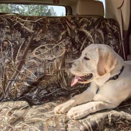 """Ducks Unlimited Two-Barrel Bench Seat Cover - 56x68"""" in Realtree Max-5 - Closeouts"""