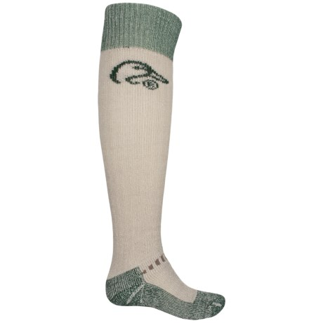 Ducks Unlimited Vented Wader Socks - Over the Calf (For Men) in Green