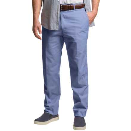 Dukes Bark Cotton Chambray Pants - Flat Front (For Men) in Blue - Closeouts