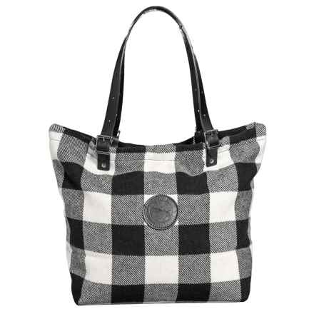 Duluth Pack The Times Market Tote Bag - Wool in Times Black/White Plaid - Closeouts
