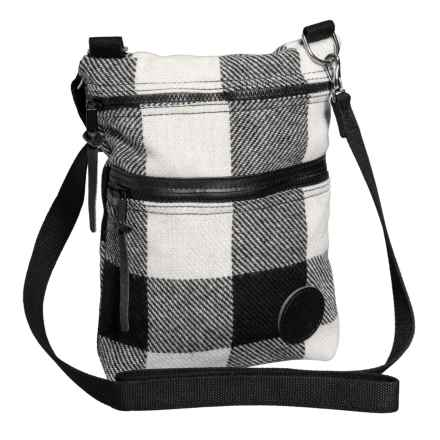 Duluth Pack Times Traverse Crossbody Bag - Wool in Times Black/White Plaid - Closeouts