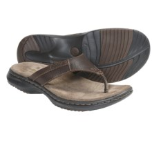Dunham Biscayne Sandals - Leather, Flip-Flops (For Men) in Brown - Closeouts