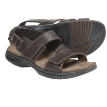 Dunham Brownsville Leather Sandals (For Men) in Brown - Closeouts