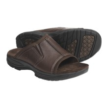 Dunham Cutter Slide Sandals - Leather (For Men) in Brown - Closeouts
