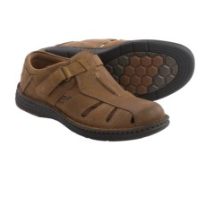 Dunham REVchamp Fisherman Sandals - Leather (For Men) in Tan - Closeouts