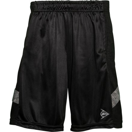 8be006606b Dunlop Black-White Space-Dye High-Performance Shorts (For Big Boys)