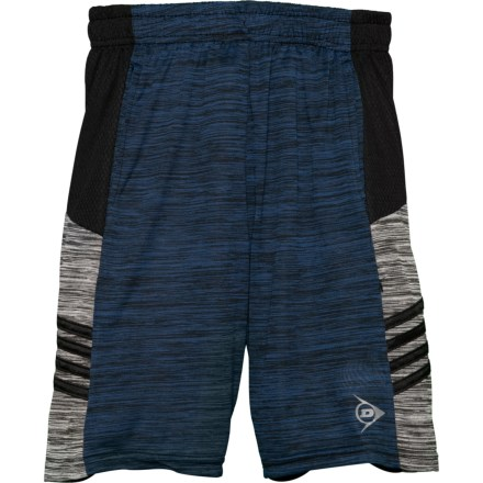 52eff3969b Dunlop Navy Space-Dye-Black High-Performance Shorts (For Big Boys)
