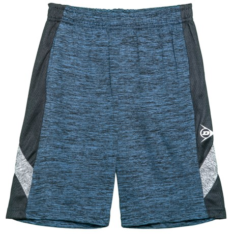 Dunlop Solid Shorts with Solid Side Panels (For Boys) in Spacedye Navy/Black