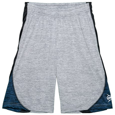 Dunlop Space-Dyed Shorts with Side Panels (For Boys) in Spacedye Heather Grey/Spacedye Navy