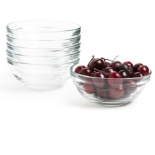 Duralex Lys Stackable Bowls - Set of 6 in Clear - Closeouts