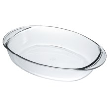 Duralex Oval Roaster - 15.5x10.5 in Clear - Closeouts
