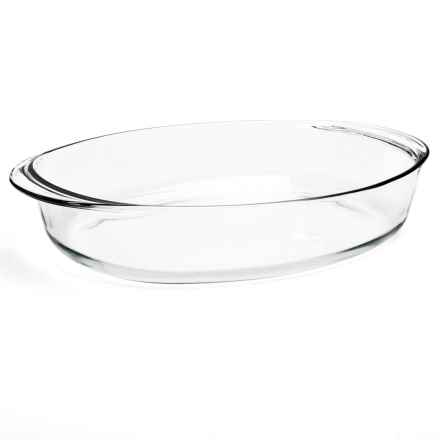 """Duralex Oval Roaster - 16x11.5"""" in Clear - Closeouts"""