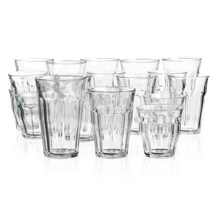 Duralex Picardie Clear Glass Tumblers - Set of 18 in Clear - Closeouts